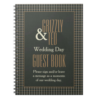 Classy Framed Gay Wedding Guestbook for Bears Notebook