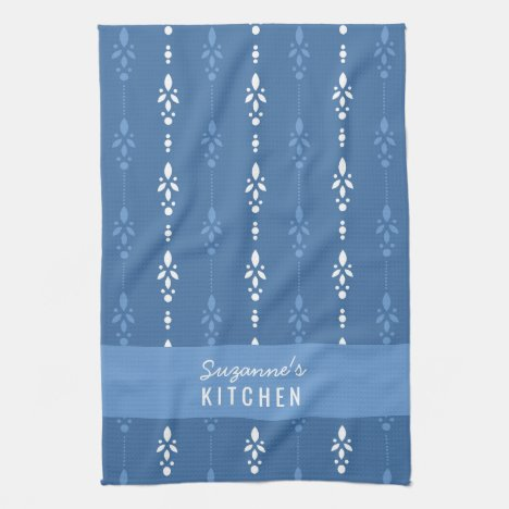 Classy french country blue and white hand towel