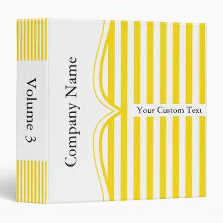 Classy Fressia Yellow Stripes Binder