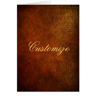 Classy Genuine Leather Designer Greeting Card
