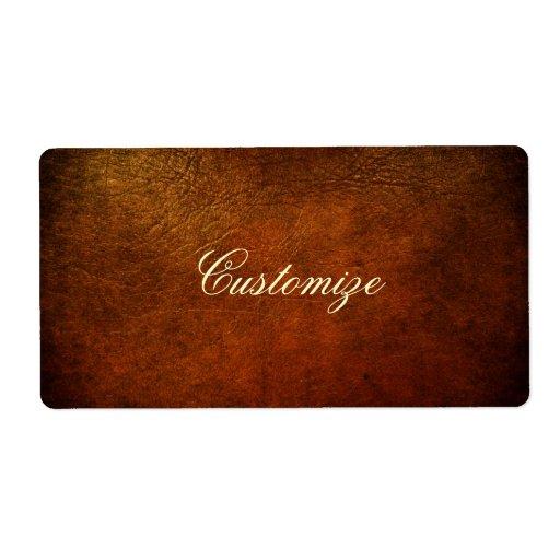 Classy Genuine Leather Designer Labels