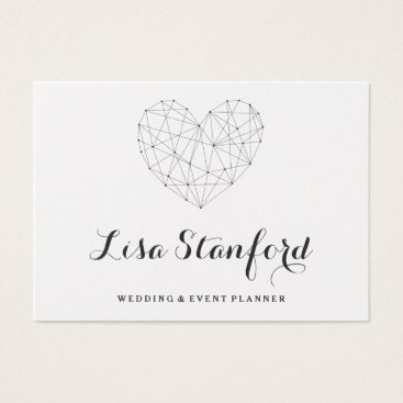 Professional Business Classy geometric heart gold business card