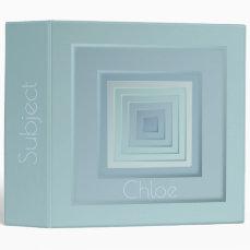 Classy Geometric Squares Binder