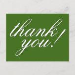 "[ Thumbnail: Classy, Glamorous ""Thank You!"" Postcard ]"