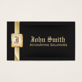 Classy Gold Belt Accounting Dark Business Card