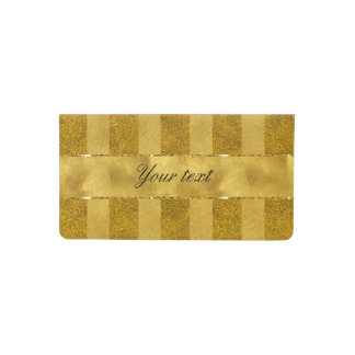 Classy Gold Foil Stripes Checkbook Cover