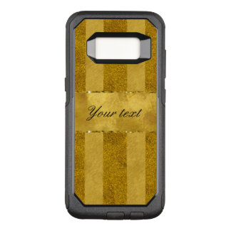 Classy Gold Foil Stripes OtterBox Commuter Samsung Galaxy S8 Case