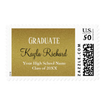 Classy Gold Glitter Graduation Postage