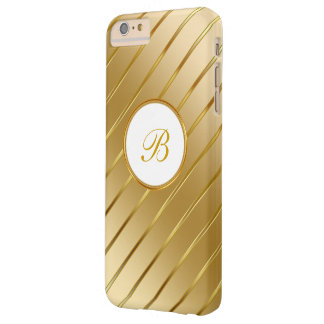 Classy Gold Monogram Barely There iPhone 6 Plus Case
