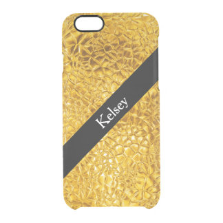 Classy Gold Monogram Clear iPhone 6/6S Case