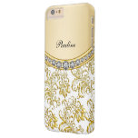 Classy Gold Monogram Style Barely There iPhone 6 Plus Case