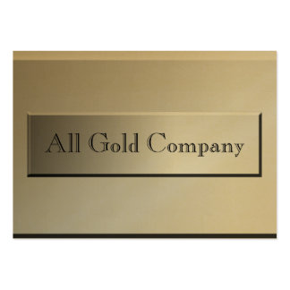 Classy Gold Name Plate Business Cards