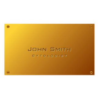 Classy Gold Plated Cytologist Business Card