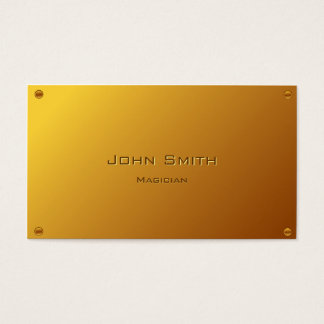 Classy Gold Plated Magician Business Card