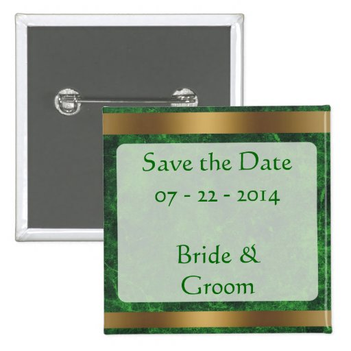 Classy Gold Save the Date Goldgreen1 Button