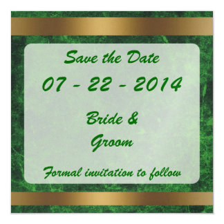 Classy Gold Save the Date Goldgreen1 Custom Invites