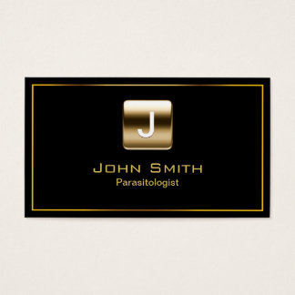 Classy Gold Stamp Parasitology Business Card