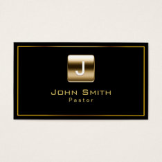 Classy Gold Stamp Pastor Business Card at Zazzle