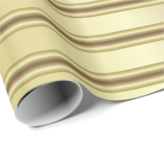 Classy Gold Stripe Pattern Wrapping Paper