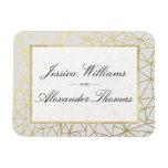 Classy Gold & White Wedding Magnet