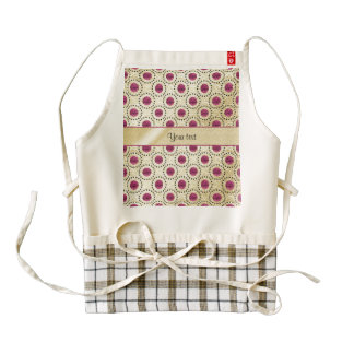 Classy Gold With Pink Glitter Dots Zazzle HEART Apron