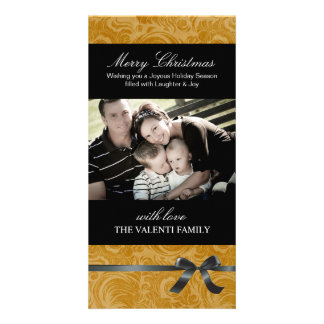 Classy Golden Christmas Photo Card
