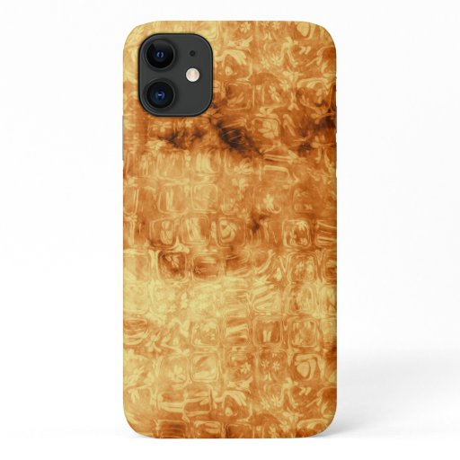 Classy Golden Daisy Reflections Abstract iPhone 11 Case