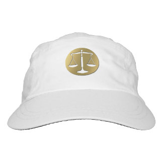 Classy Golden Scales of Justice Headsweats Hat