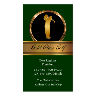 Classy Golf Business Cards