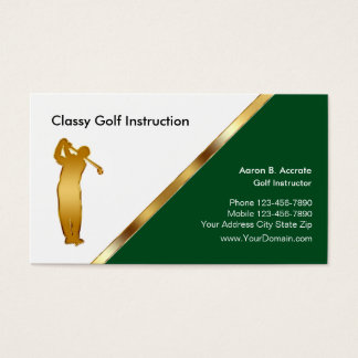 Classy Golf Instructor Business Cards