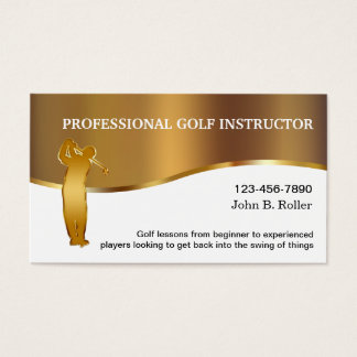 Classy Golf Lessons Business Cards