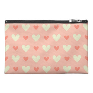 Classy Graceful Hearts - Love and Peace Pattern Travel Accessories Bags