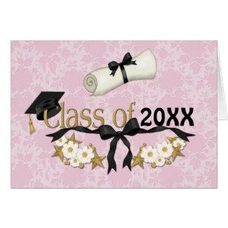 Classy Grad 2012 zazzle_card