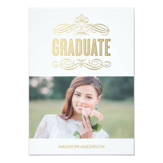 Classy Grad   Graduation Party Invitation