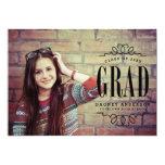 Classy Graduate Photo Graduation Party 5x7 Paper Invitation Card