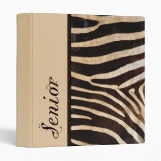 Classy Graduate Zebra Stripe 3 Ring Binder