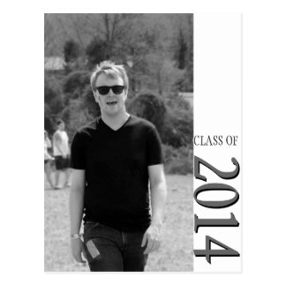 Classy Graduation Announcement for Black and White Postcards