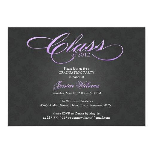 Classy Graduation Party Custom Invitations