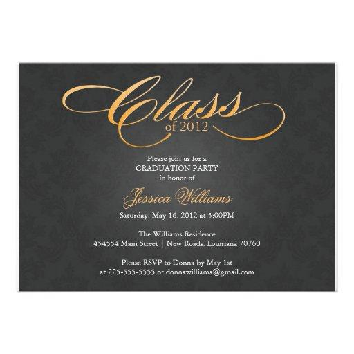 Classy Graduation Party Invitations