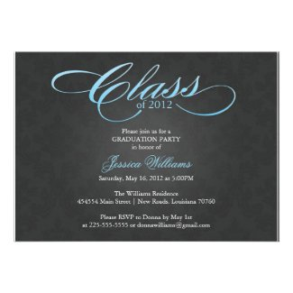 Classy Graduation Party Personalized Invites