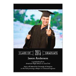 Classy Graduation Photo Announcement