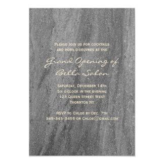 Classy Granite Grand Opening Invitation