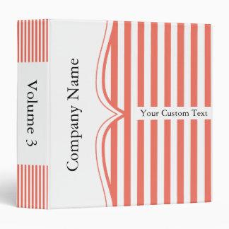 Classy Grapefruit Stripes Binder