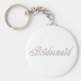 Classy Grays Bridesmaid Keychain