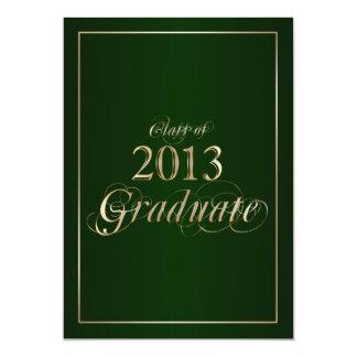 Classy Green and Gold 2013 Graduate Invitation