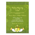 Classy Green Irish Wedding Rehearsal Dinner Card