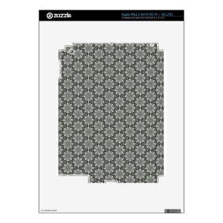 Classy Grey Blossoms iPad 3 Skin