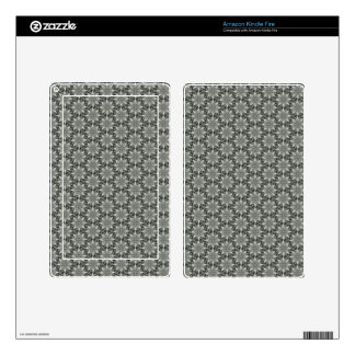 Classy Grey Blossoms Kindle Fire Skins