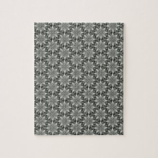 Classy Grey Blossoms Puzzle