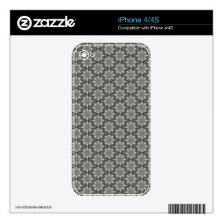 Classy Grey Blossoms Skin For The iPhone 4S